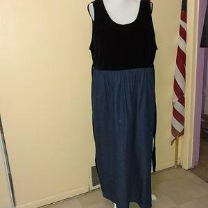 Velvet and Jean maxi dress size 1X